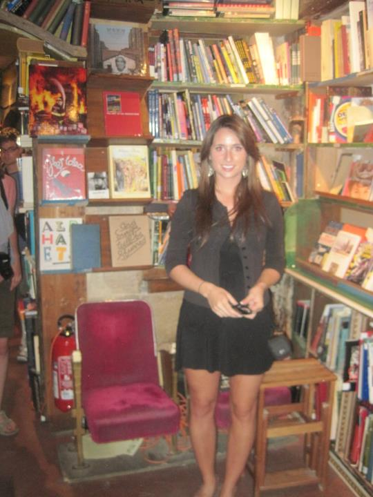 Me in Shakespeare and Co in July 16, 2011 - exactly years ago!